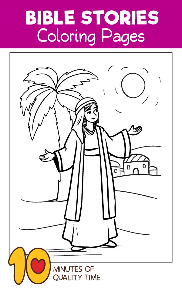 bible coloring pages about deborah - photo#13