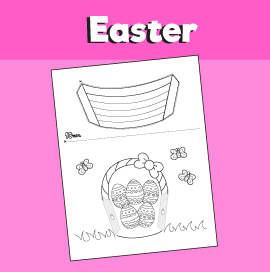 Easter Basket 3D Craft