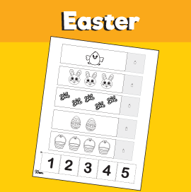 Easter Counting 1-5 Worksheet