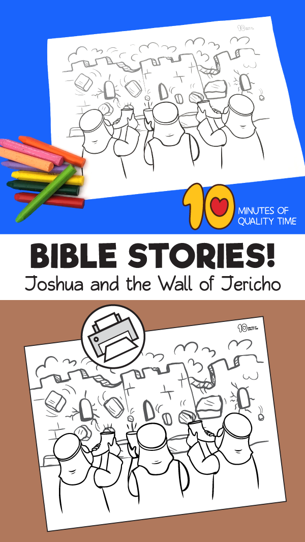 joshua and jericho coloring page