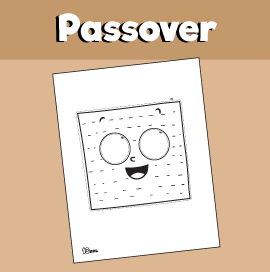 Passover Matzah Mask Craft