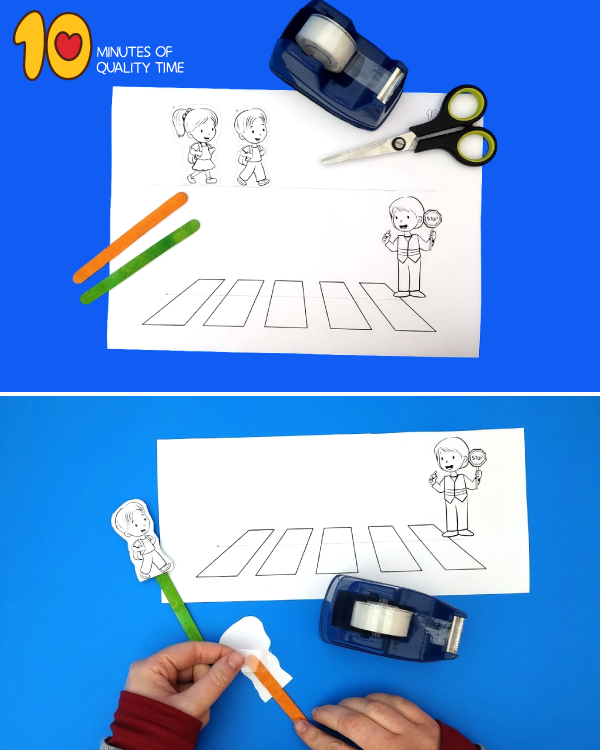 road safety crafts for toddlers