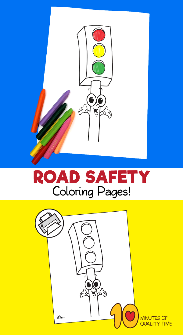 road safety coloring sheets