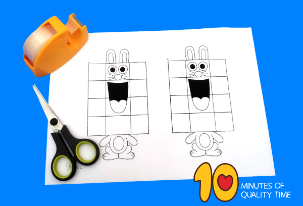 easter bunny puppet template