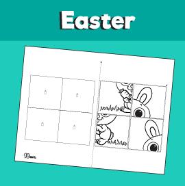 Bunny Printable Puzzle