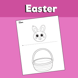 Bunny in Easter Basket Craft
