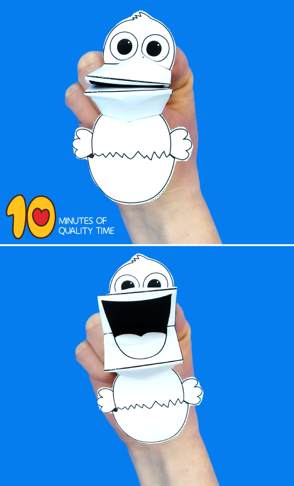 Chick Finger Puppet Printable 10 Minutes Of Quality Time