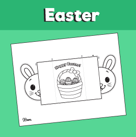 Easter Bunny Folding Card