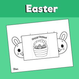 Easter Bunny Folding Card