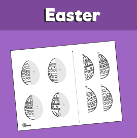 Easter Egg Match Worksheet