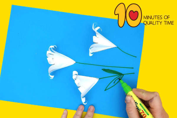 how to make easter lily craft