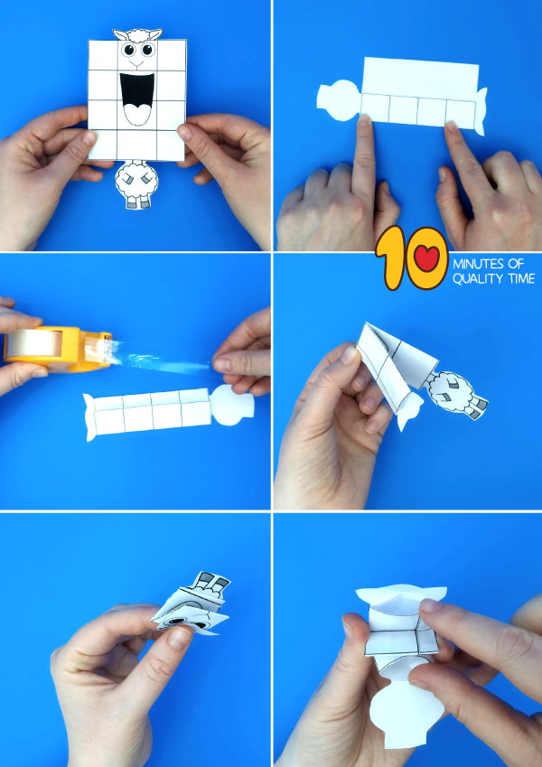 lamb finger puppet template