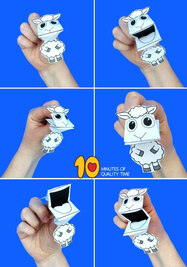 lamb finger puppets