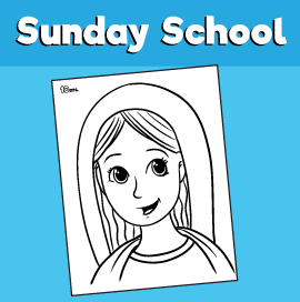 Mary Coloring page