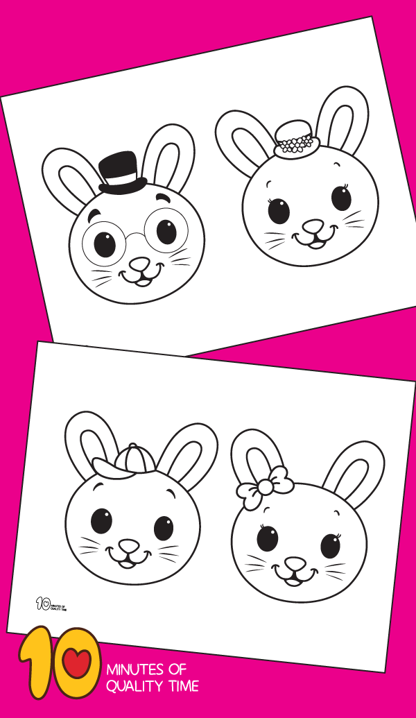 coloring page for easter bunny