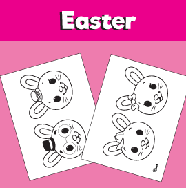 Rabbit Family Coloring Pages
