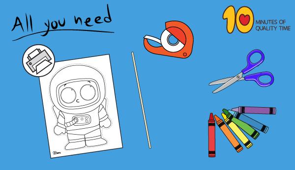 astronaut craft for kindergarten