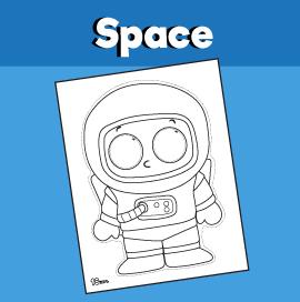Astronaut Paper Mask