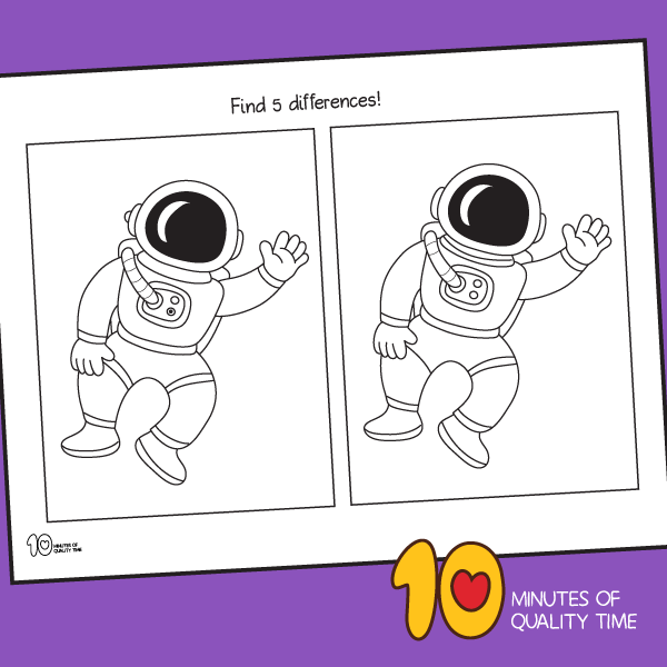 astronaut worksheets for kindergarten