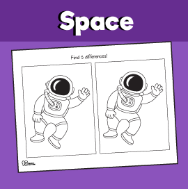 Astronaut Spot the Difference