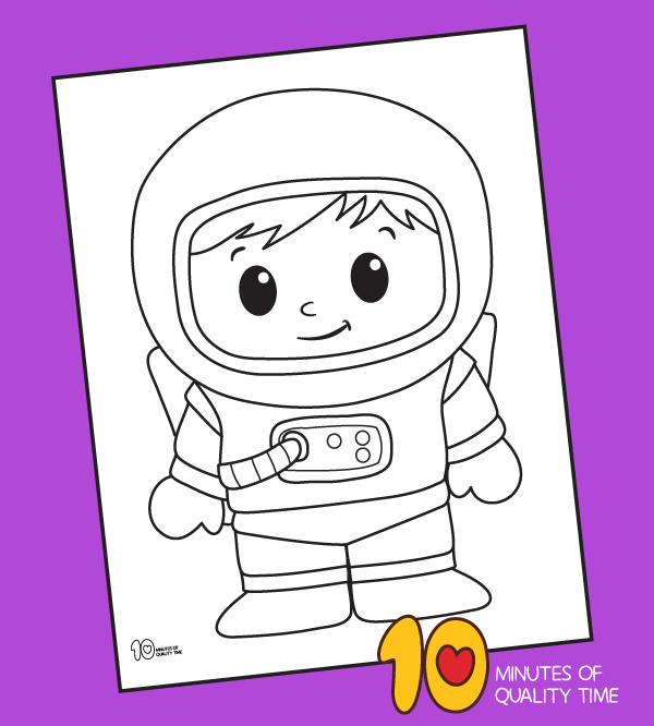 astronaut coloring pages kindergarten