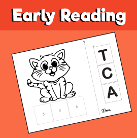 Early Reading Game - Cat