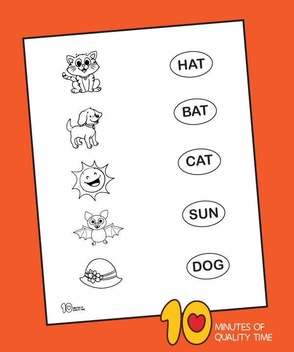 Early Reading Matching Game