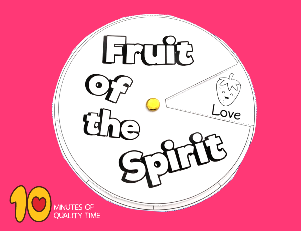 Fruit of the Spirit Craft 10 Minutes of Quality Time