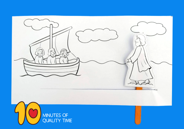 jesus walks on water crafts for preschool