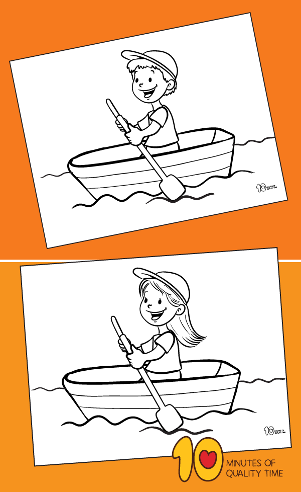 rowing boat colouring pages