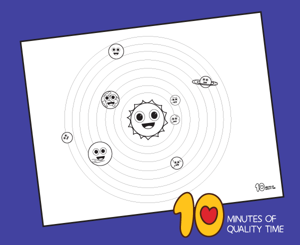 solar system coloring pages for kindergarten