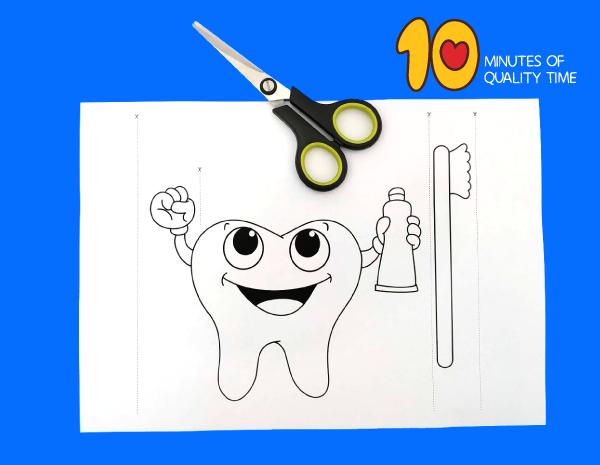 brushing teeth crafts for preschoolers