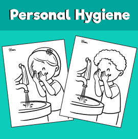 Wash Your Face Coloring Page