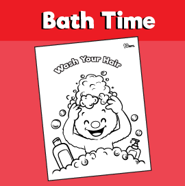 Wash Your Hair Coloring Page