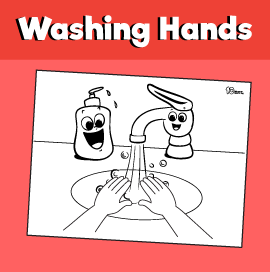 Washing Hands Coloring Page