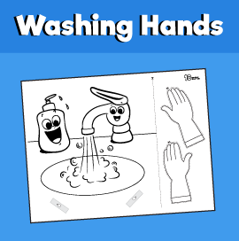 washing hands craft