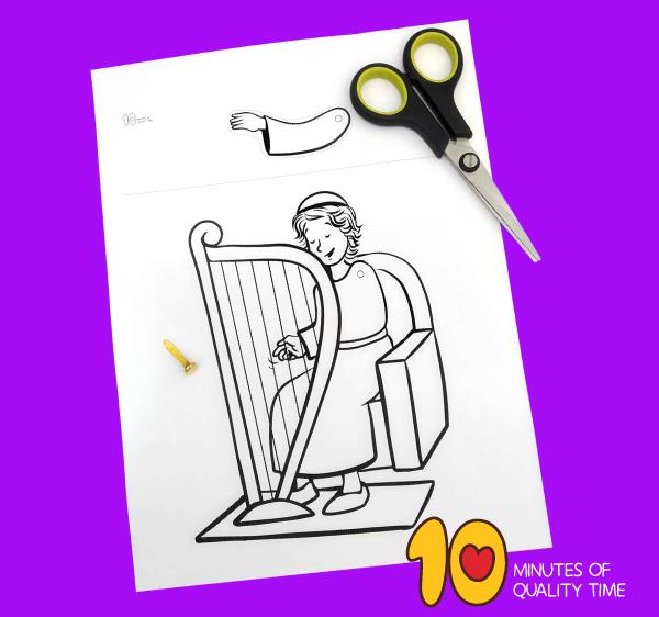 david plays the harp for king saul craft