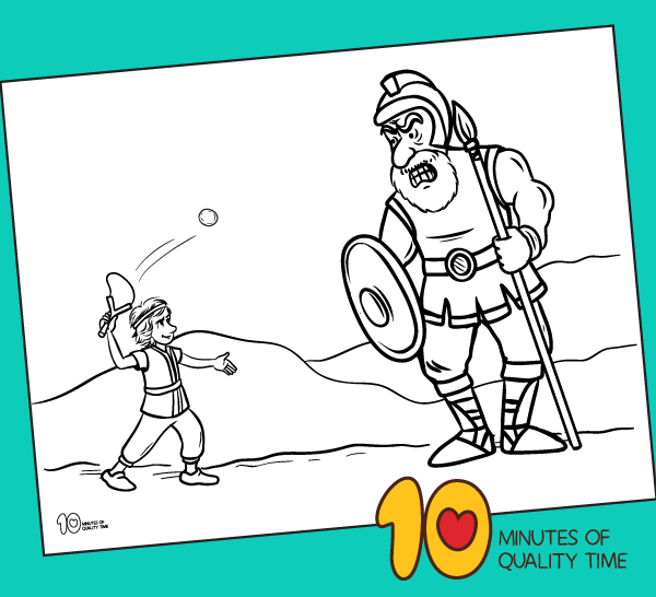 david and goliath coloring sheet