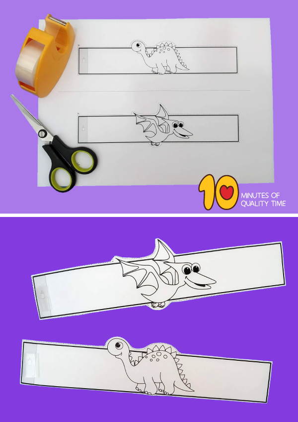 dinosaur craft template