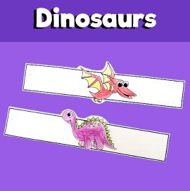 Dinosaur Paper Bracelets