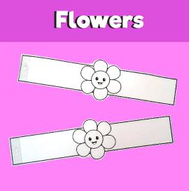 Flower Paper Bracelet