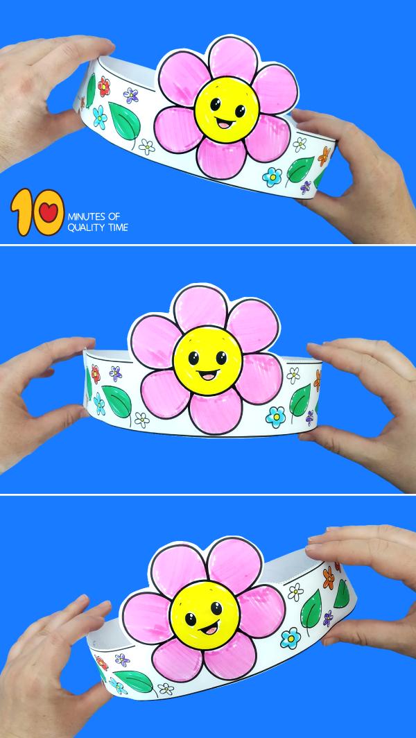 flower crown craft for preschoolers