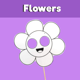 Flower Paper Mask