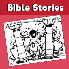 God Gave Samson Strength Coloring Page