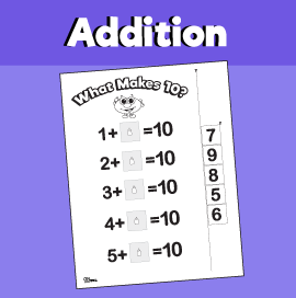 making 10 worksheets for kindergarten