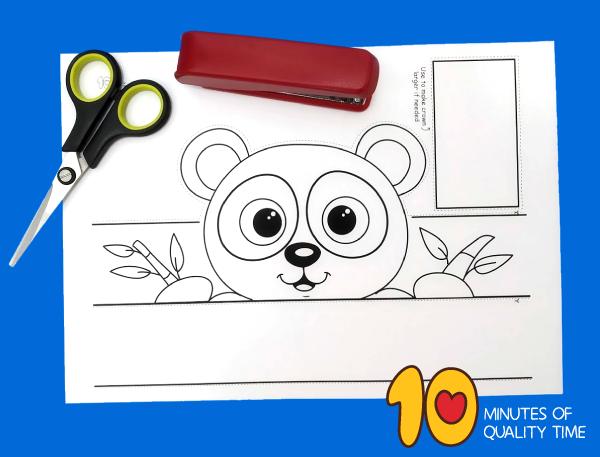 panda bear craft template