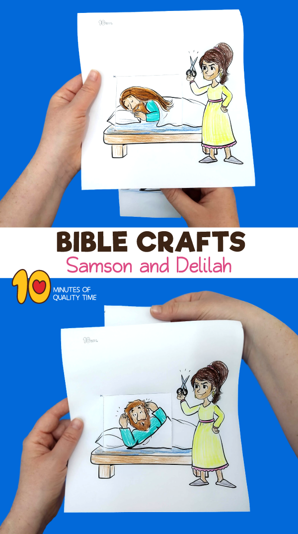samson and delilah sunday school craft