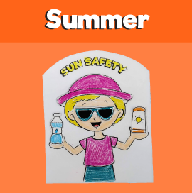 Sun Safety Cut and Paste Activity