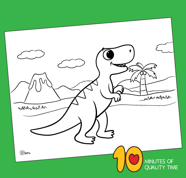 Dinosaur T Rex Coloring Pages for Kids - YouTube | 574x600