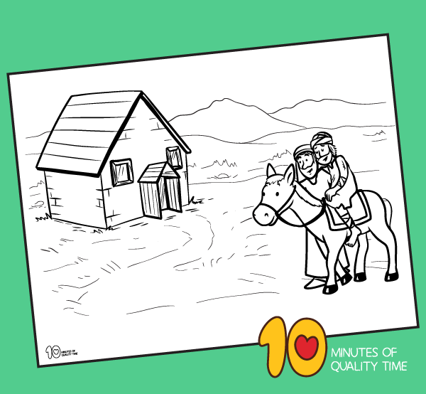 coloring pages for the good samaritan story